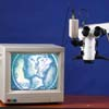 Monitor and camera not included.  Microscope is video capable with the right equipment.